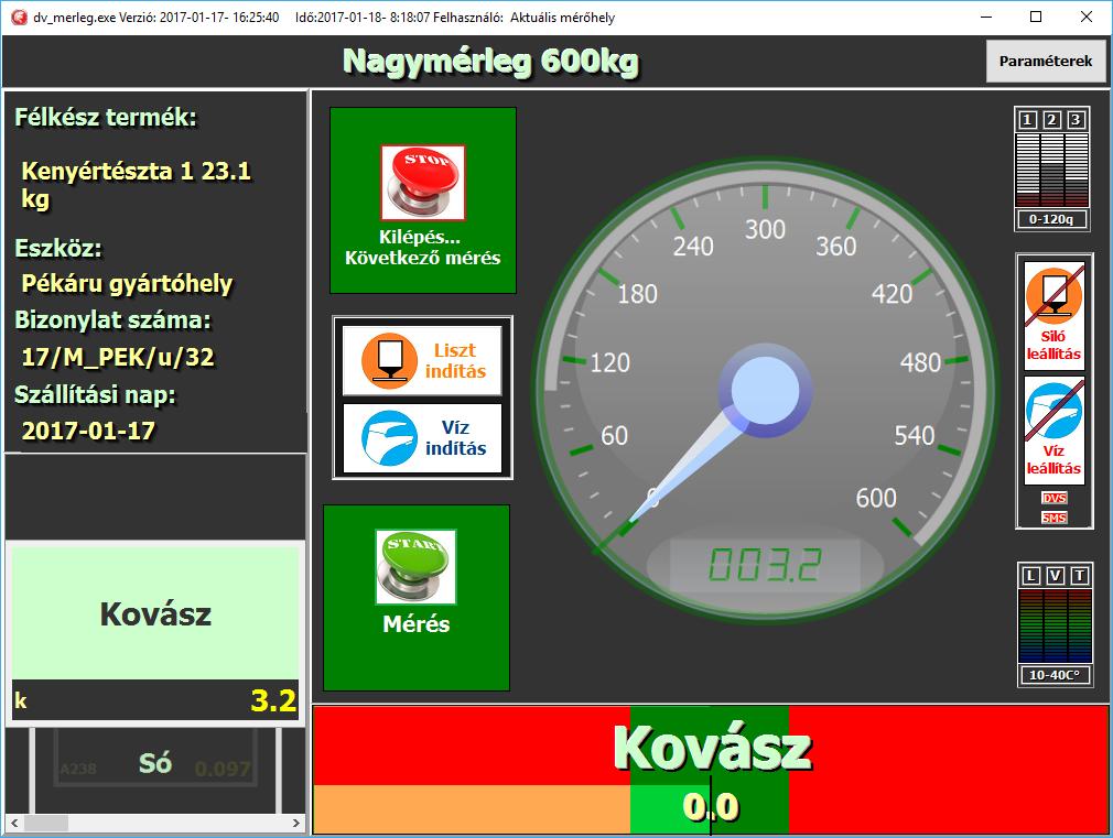 3. képernyőkép - DVMERLEG ellenőrzött összemérés